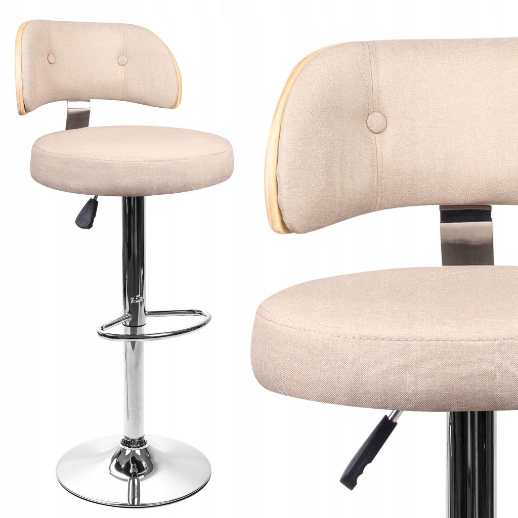 Hoker SKANDYNAWSKI krzesło barowe SOSNA kremowy