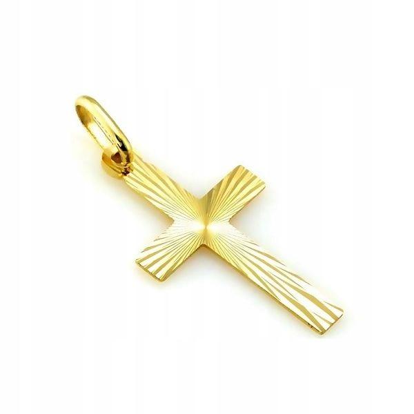 Złota zawieszka - krzyżyk - pr. 585