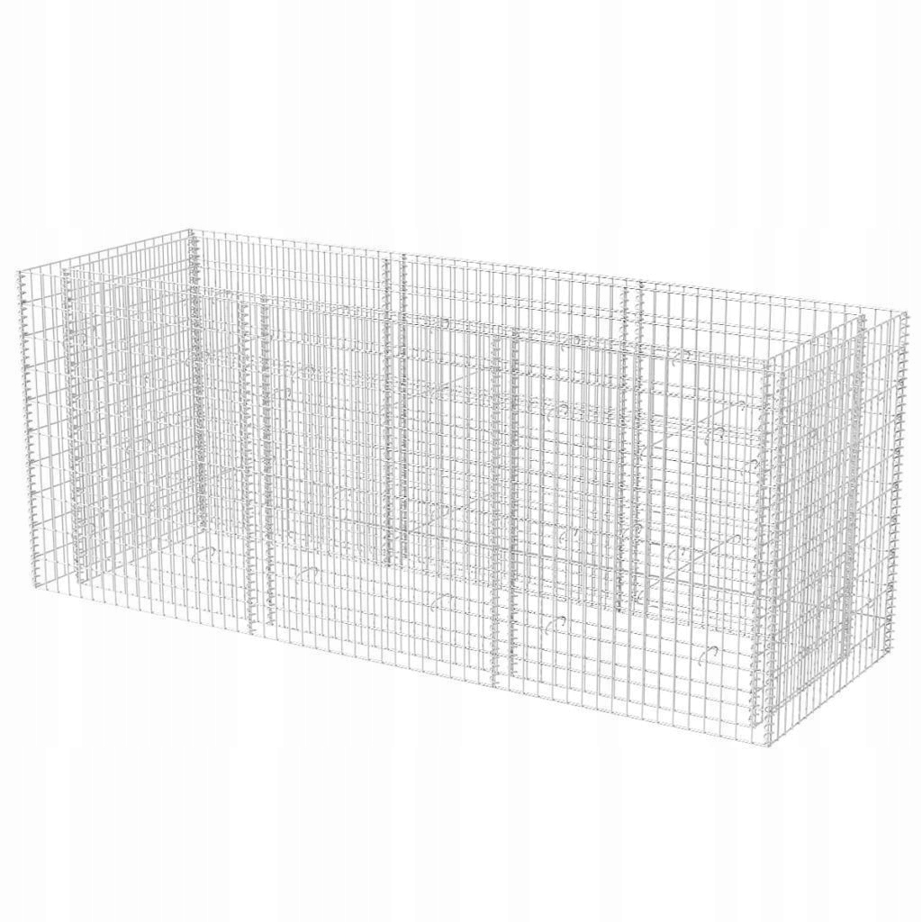 DONICA OGRODOWA GABION STALOWY 270x90x100cm