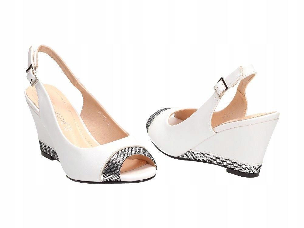 Białe sandały damskie SERGIO LEONE SK777 R.37