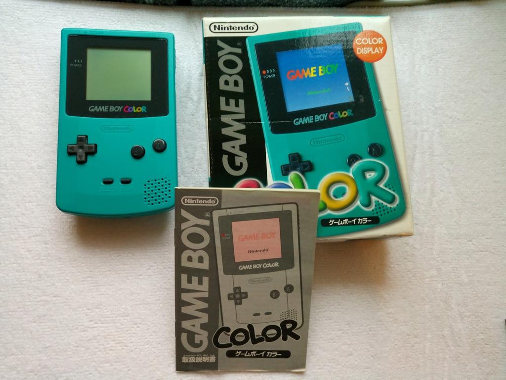 Nintendo Game Boy Color Teal+box+instrukcja