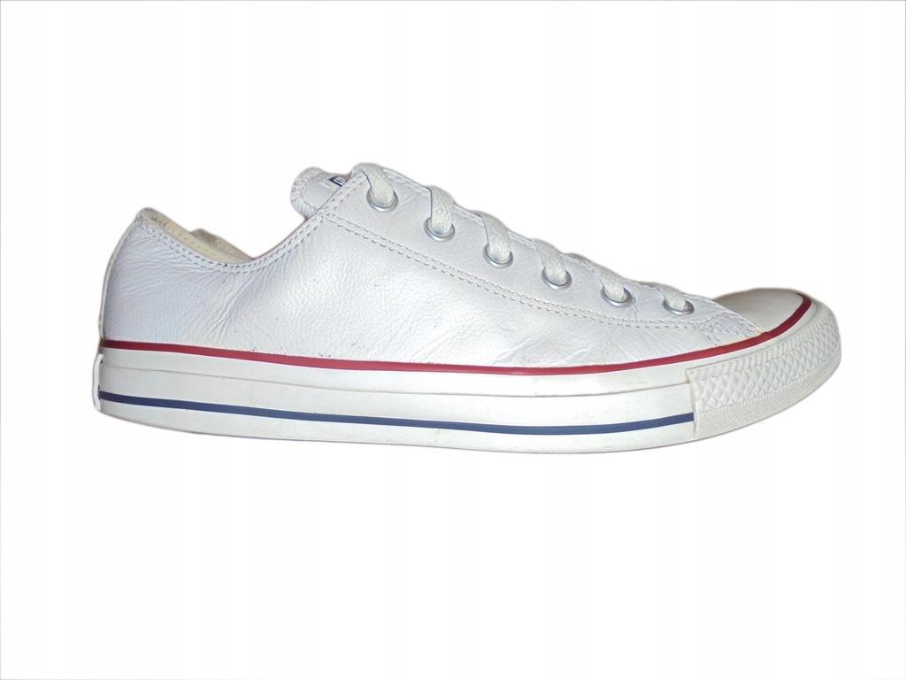 Białe skórzane trampki firmy Converse. 41,5