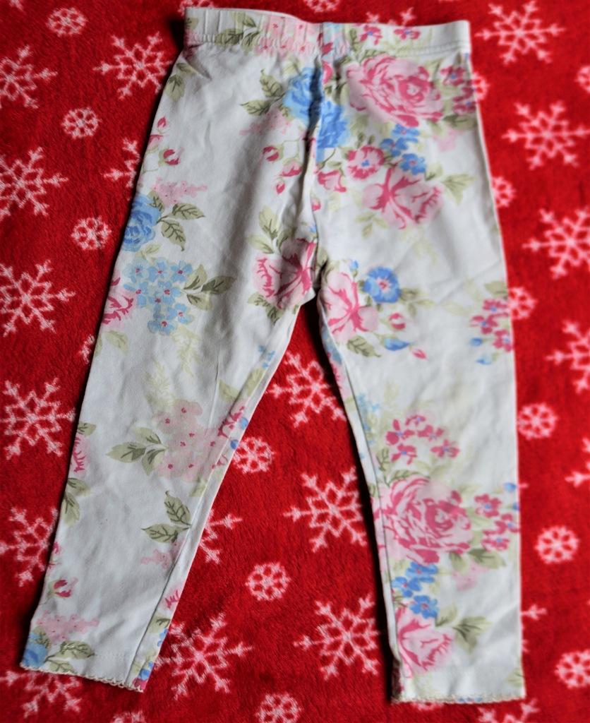 GEORGE bawełniane legginsy w kwiatki 86-92