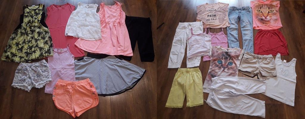 Paka firmowych ubrań dla dziewczynki r.146-152
