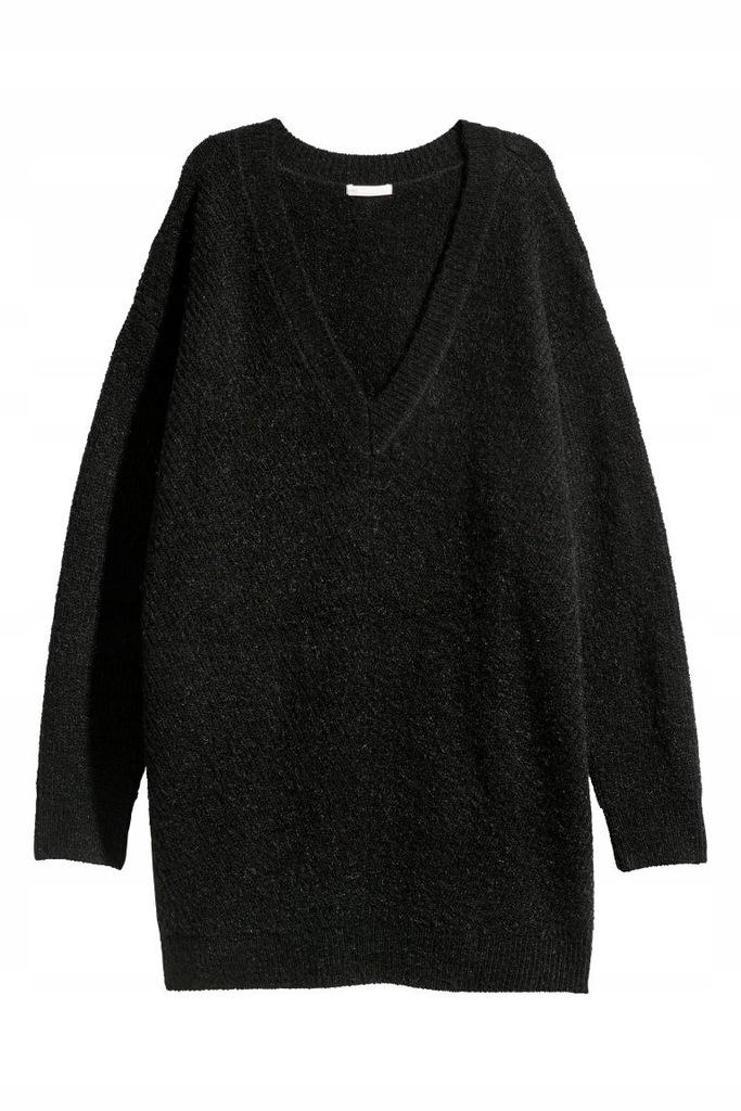 sweter w serek wełna H&M 38 M F142