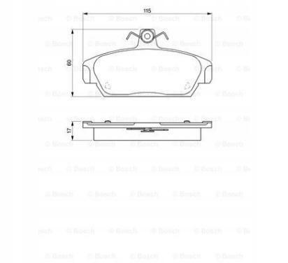 Klocki hamulcowe LADA SAMARA/MG/ROVER 100