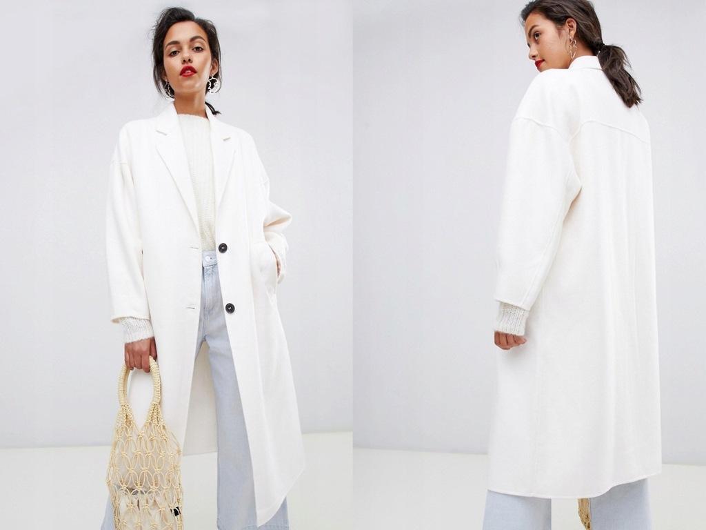 Mango - ręcznie robiony płaszcz z kieszonką S