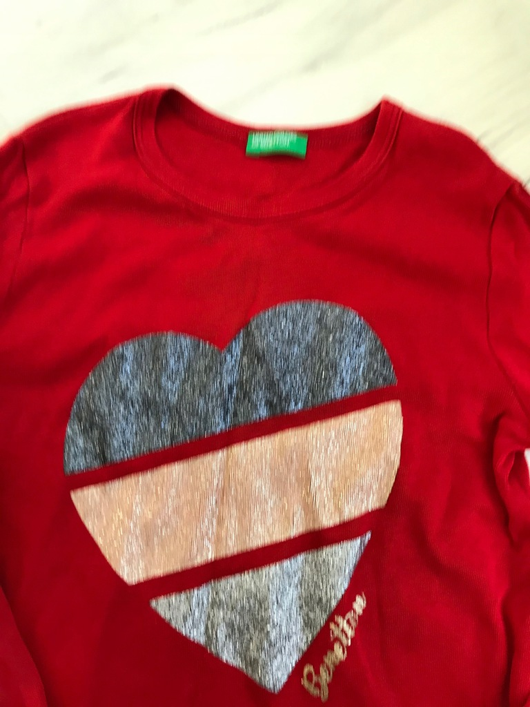 BENETTON koszulka bluzka 128