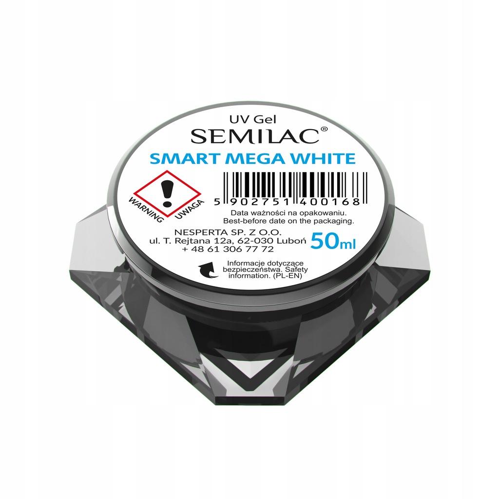SEMILAC - ŻEL DO ZDOBIEŃ - SMART MEGA WHITE - 50ml