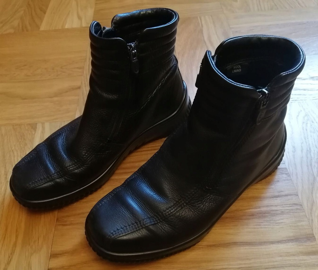 zimowe skórzane buty ECCO , r.40 , BDB