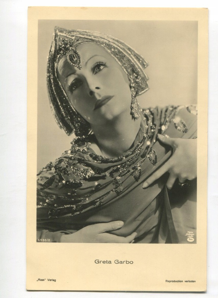 Greta Garbo Kino Film Aktorka Foto Pocztówka 22