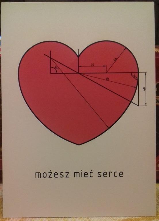 Możesz mieć serce. Karty pocztowe 3 sztuki (nr 5)