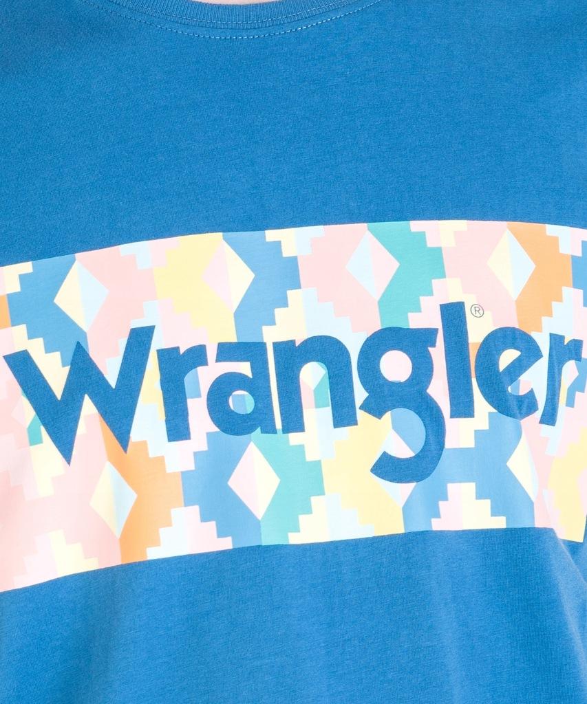 Wrangler SUMMER LOGO TEE W7A3FQB01 Blue L 7958462092