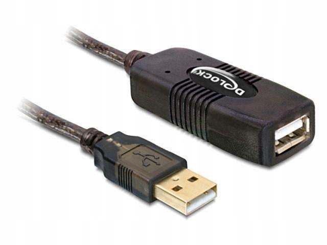 Przedłużacz Delock USB AM-AF 2.0 15m aktywny black