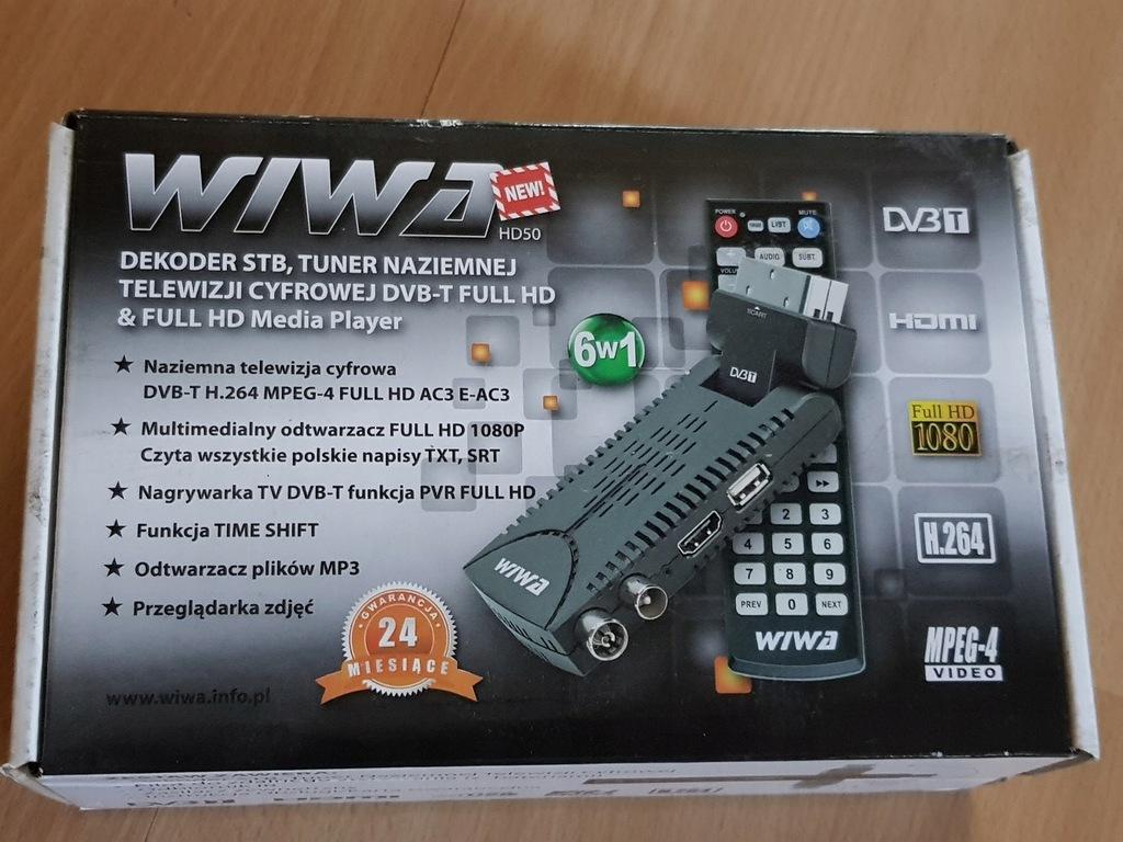 Tuner DVB-T Wiwa WIWA HD50 z funkcją nagrywania