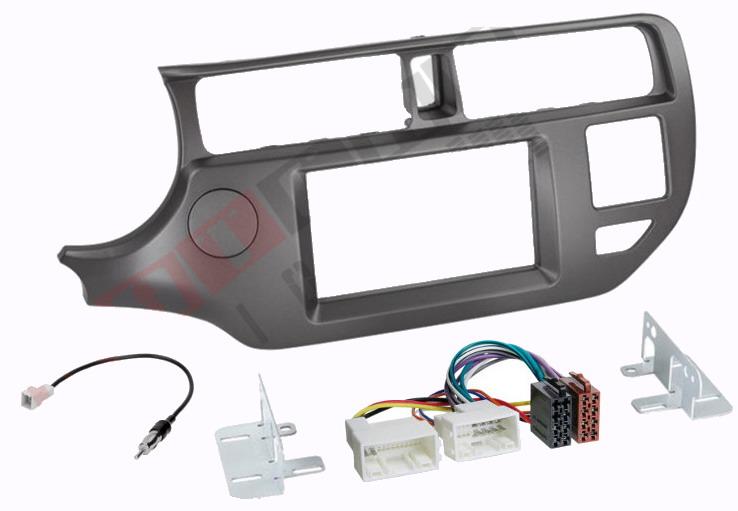 Ramka radiowa + złącze ISO Kia Rio 11-14 2 DIN