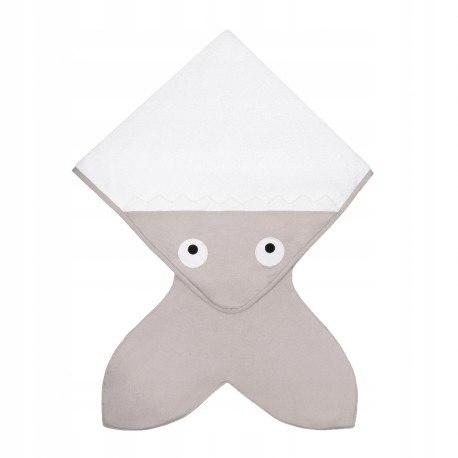 Baby bites ręcznik z kapturkiem 75 x 75 cm stone