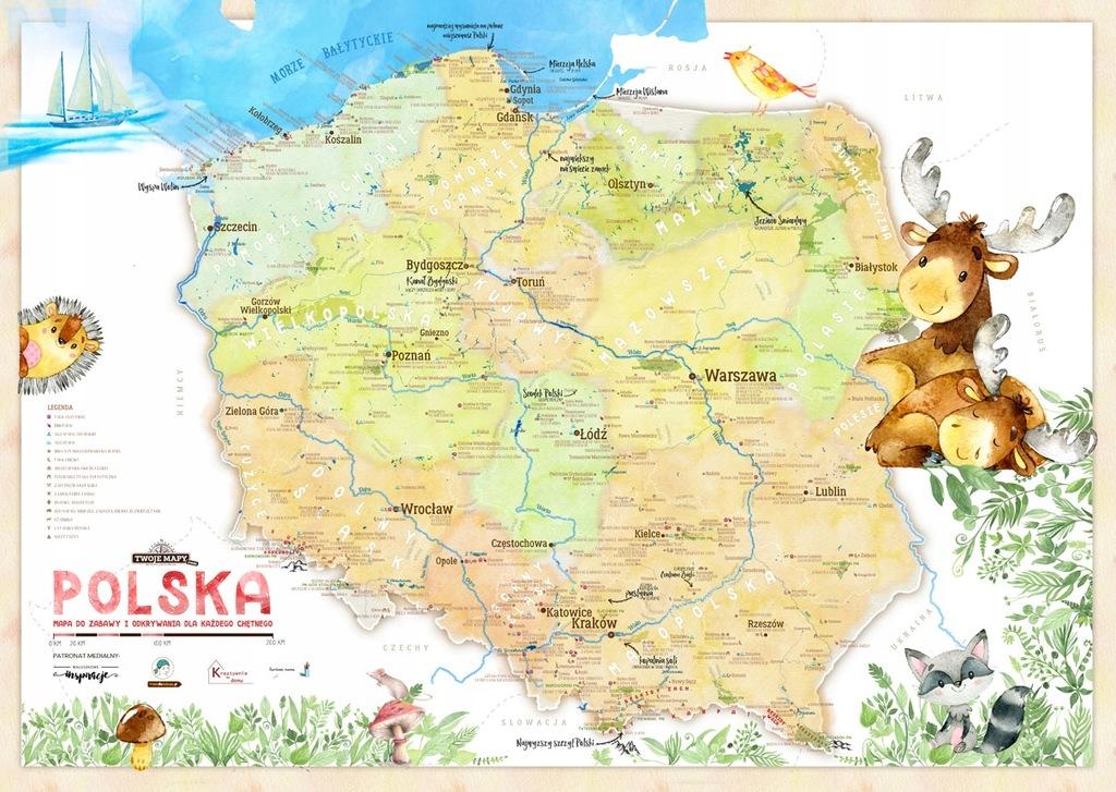 Mapa Polski dla dzieci LISTA INSPIRACJI NA WEEKEND
