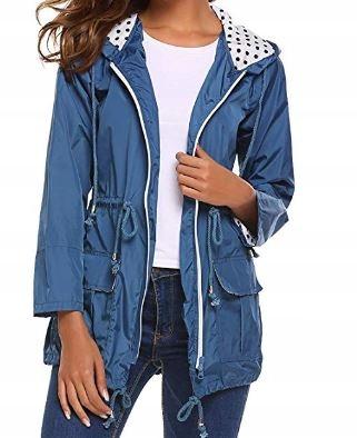 cienka kurtka damska przeciwdeszczowa