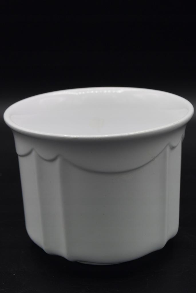 Doniczka ceramiczna 12cm biała elegancka