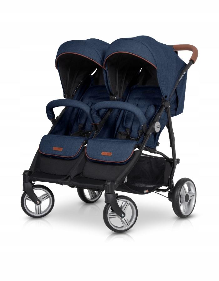 EASY GO Wózek dla bliźniąt DOMINO DENIM
