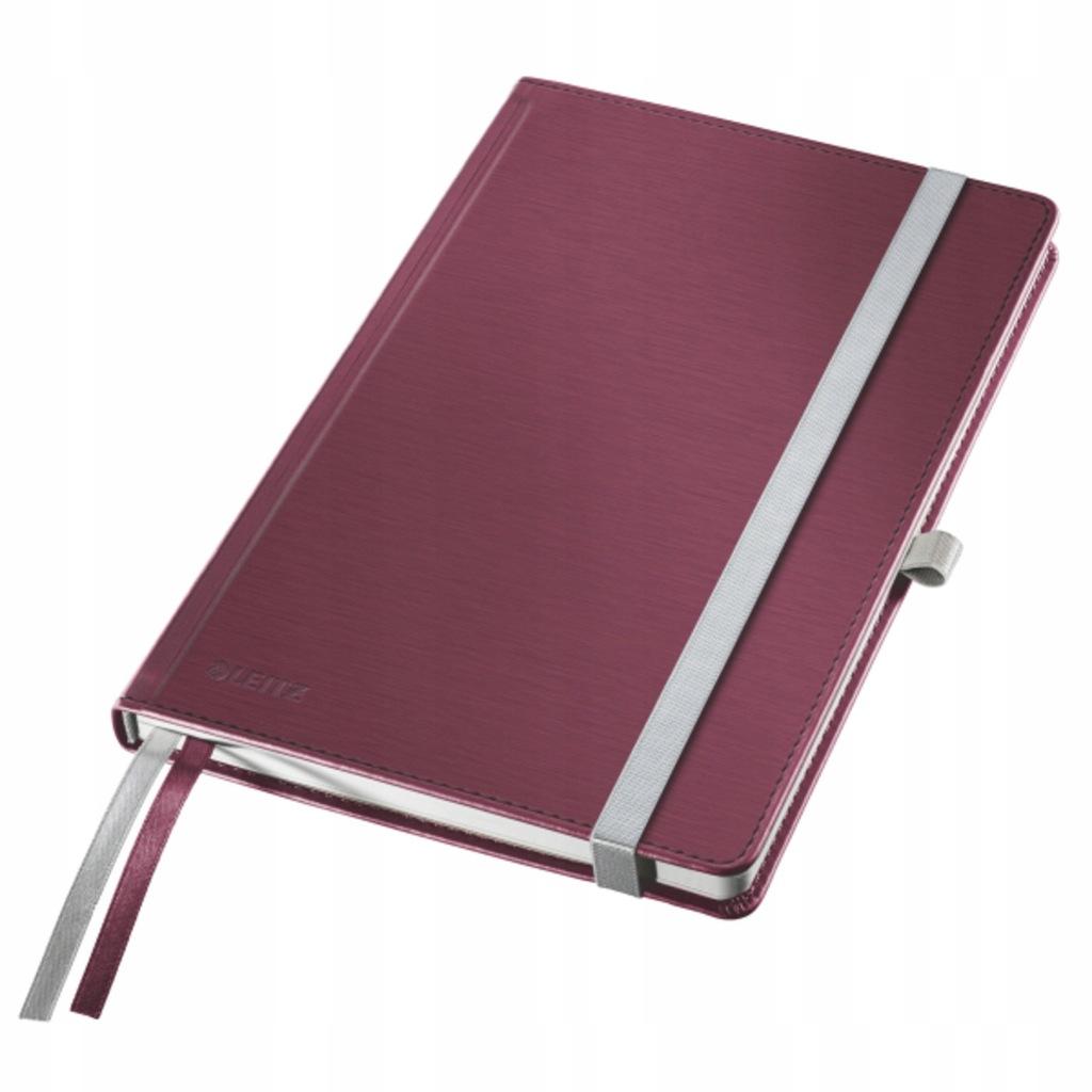 Notatnik Leitz Style A5/80k. kratka bordowy