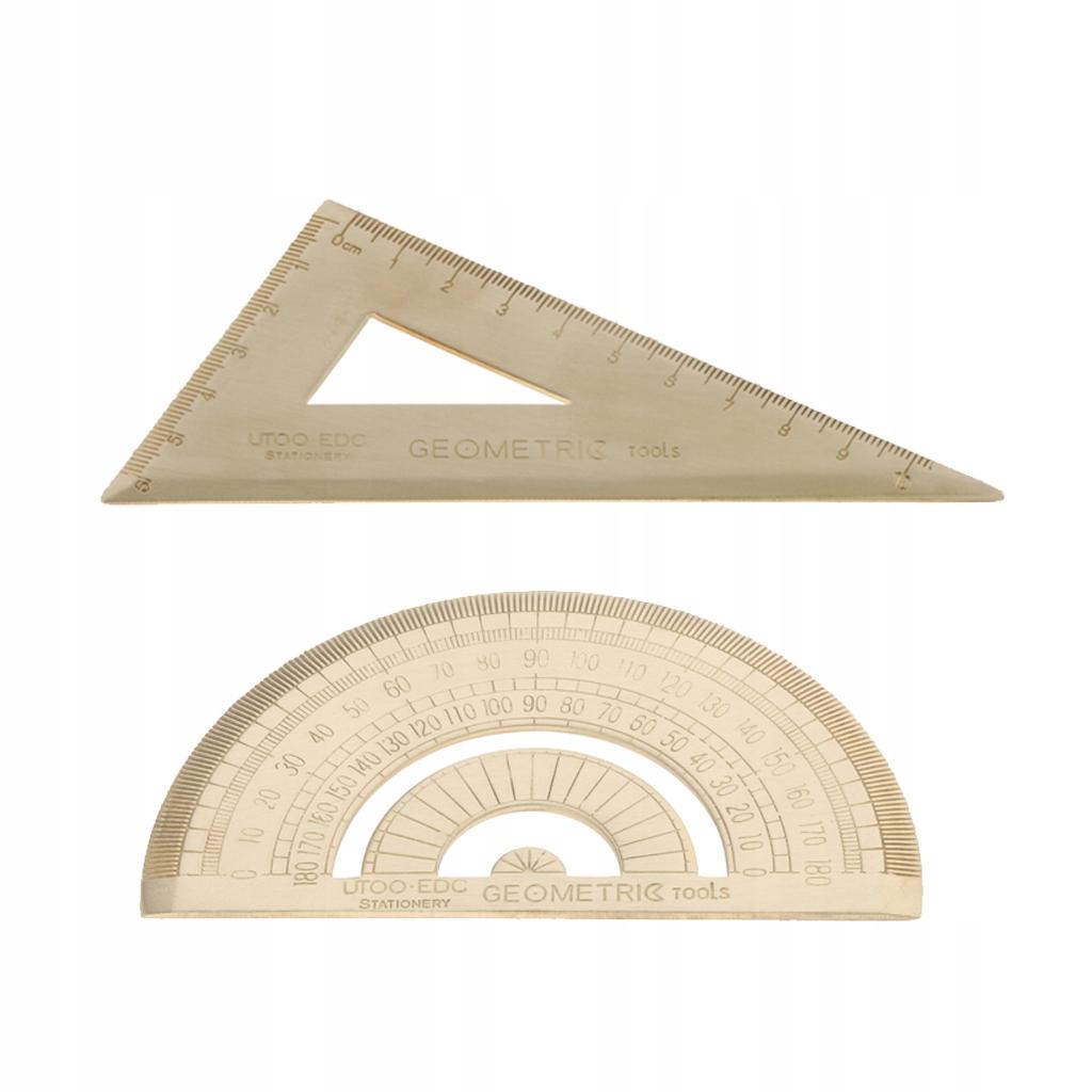 Mosiężna linijka trójkąta Jak opisano