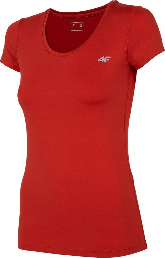 Koszulka sportowa damska 4F TSDF002 czerwona XXL