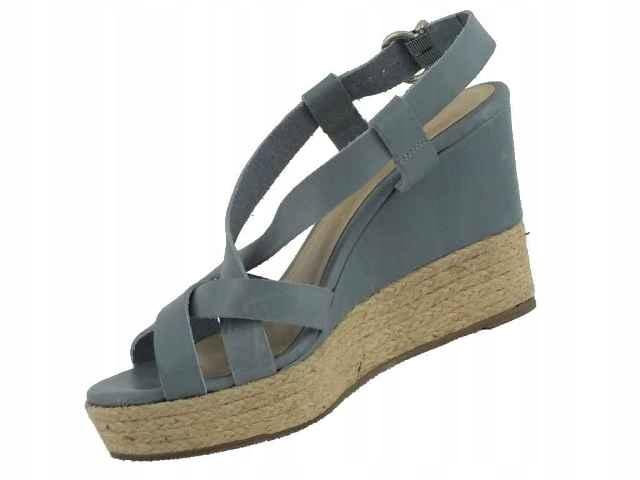 Sandały espadryle na koturnie pastelowe VEDINA 36