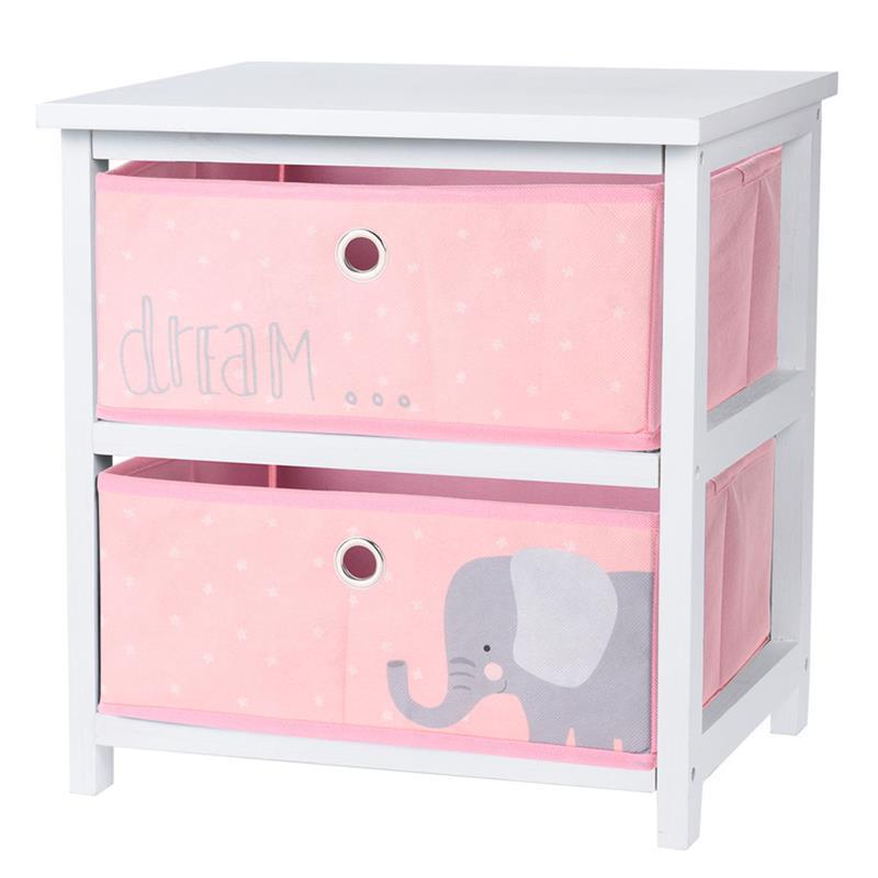 Komoda dziecięca z szufladami różowa