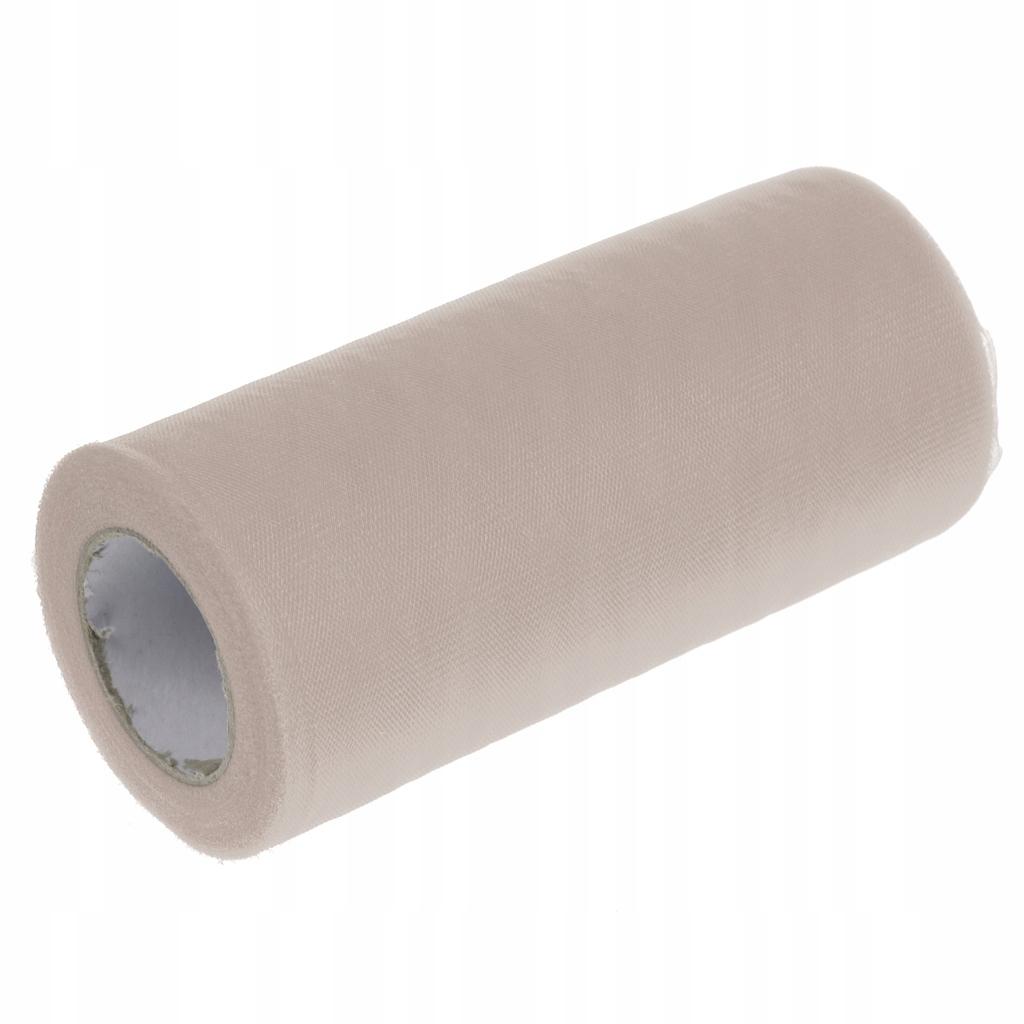 Tiulowa szpula z tkaniny - Jasny szary