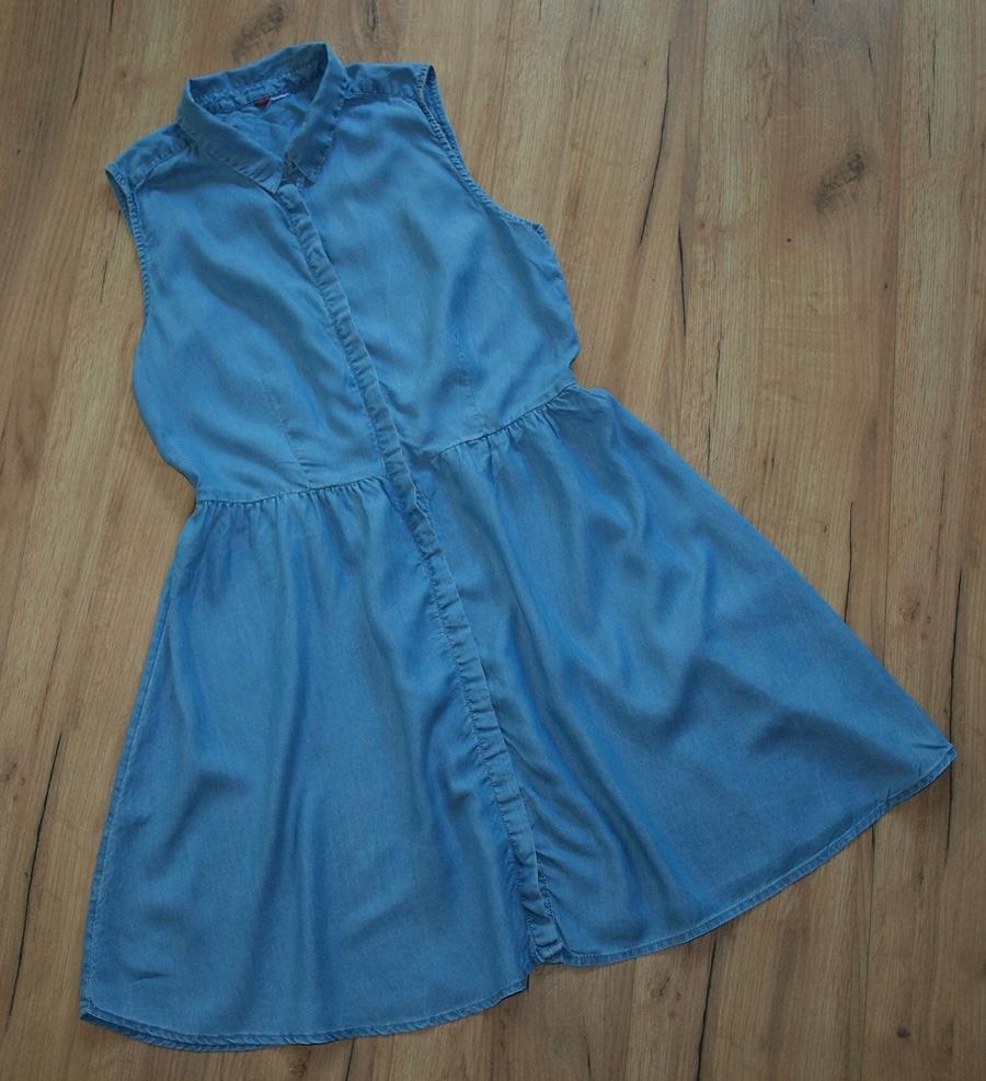 H&M jeansowa sukienka lato S M