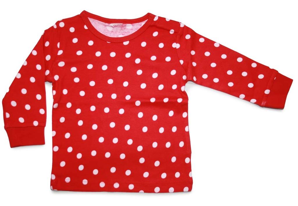H&M bluzeczka bawełniana w kropeczki roz. 98