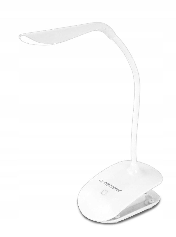 ELD104W Esperanza lampka led biurkowa deneb biała