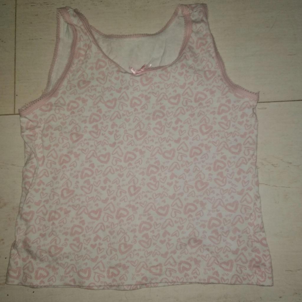 Bluzka/ top biały różowy 3-4lata 98-104 George