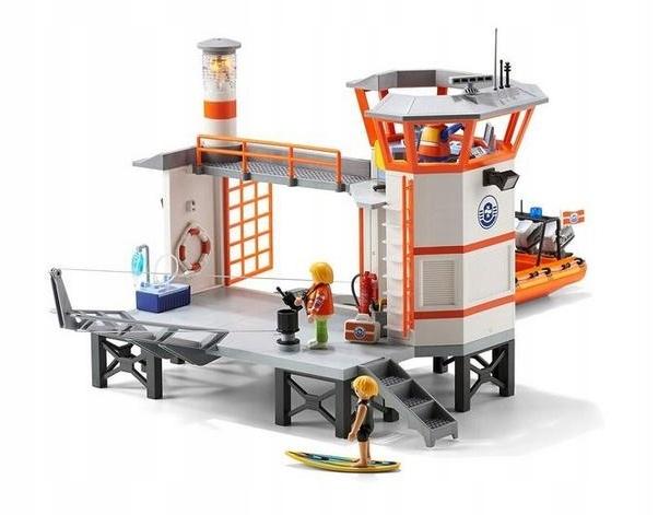 playmobil kwatera straży przybrzeżnej led 5539 xl