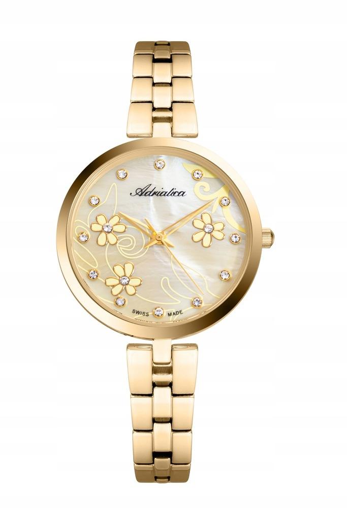 Zegarek Damski Adriatica Złoty na Bransolecie