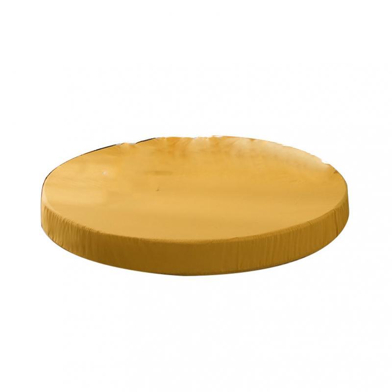 1 sztuka okrągły prześcieradło - Żółty