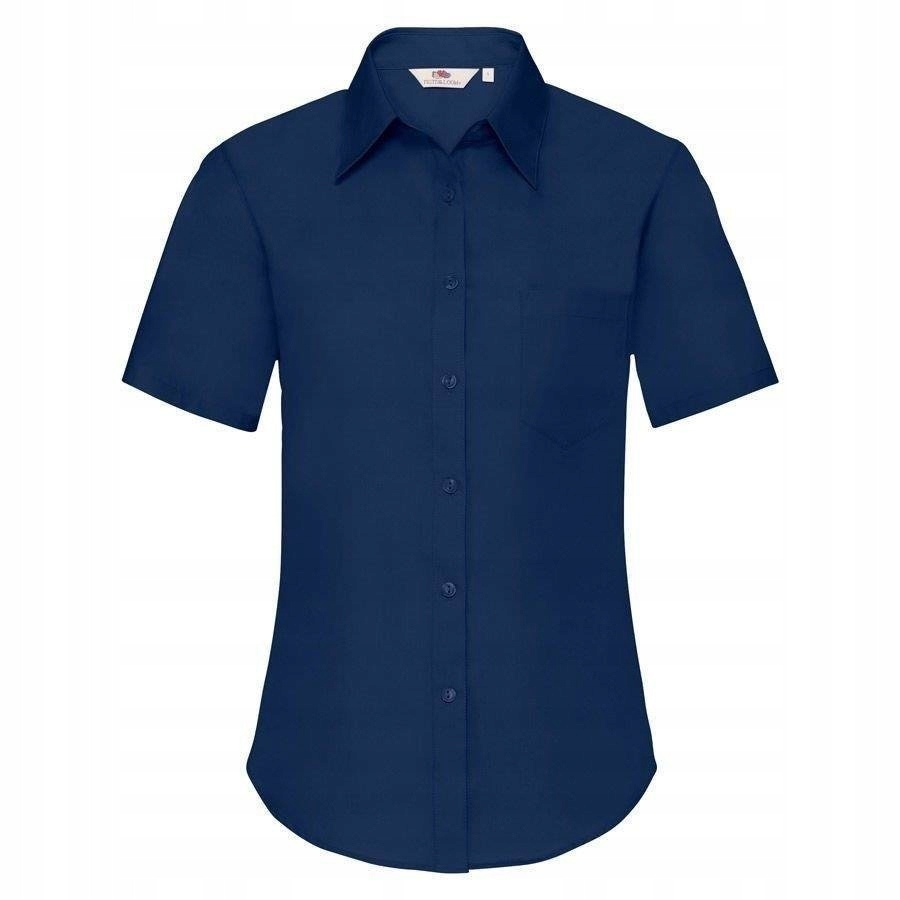 DAMSKA koszula FRUIT kr.rękaw POPLIN granatowa XS