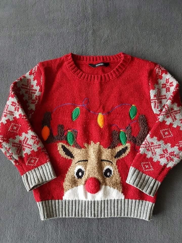 GEORGE_świąteczny sweter_2/3 lata