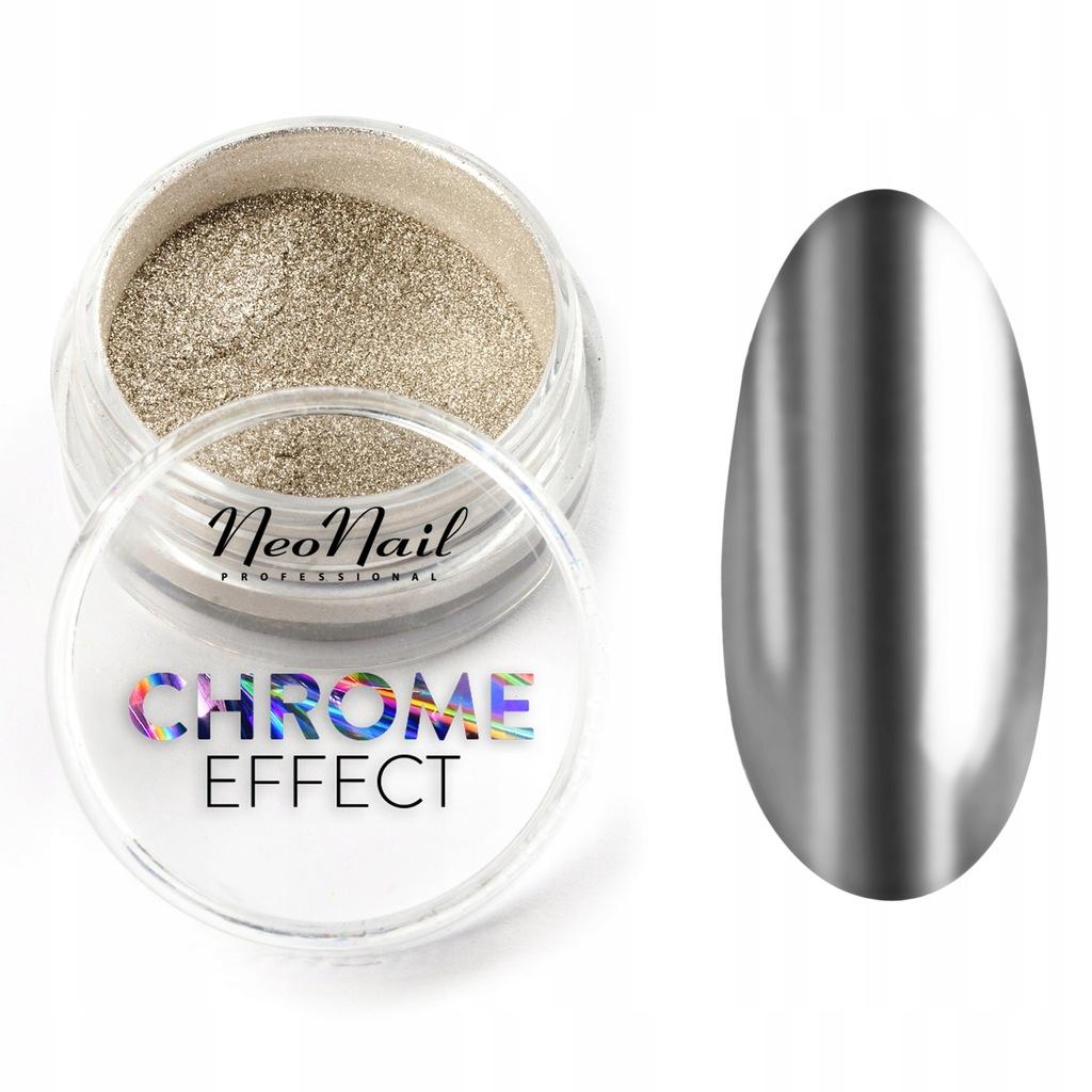 Efekt Lustra Mirror Effect Powder Chrom Neonail 6880169347 Oficjalne Archiwum Allegro