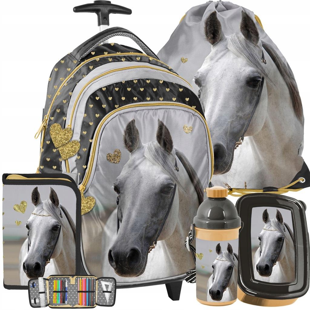 Plecak Z Koniem Na Kolkach Zestaw Dla Dziewczynki 8186803665 Oficjalne Archiwum Allegro