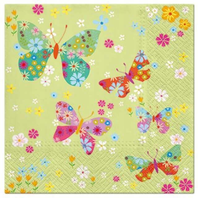serwetki KWIATKI kolorowe motyle WIOSNA x20