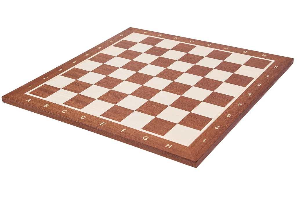 Szachy - Szachownica drewniana Nr 5 MAHOŃ Pole 50