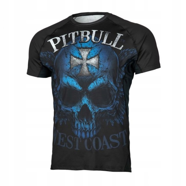 PIT BULL Rashguard Blue Skull treningowa r. S