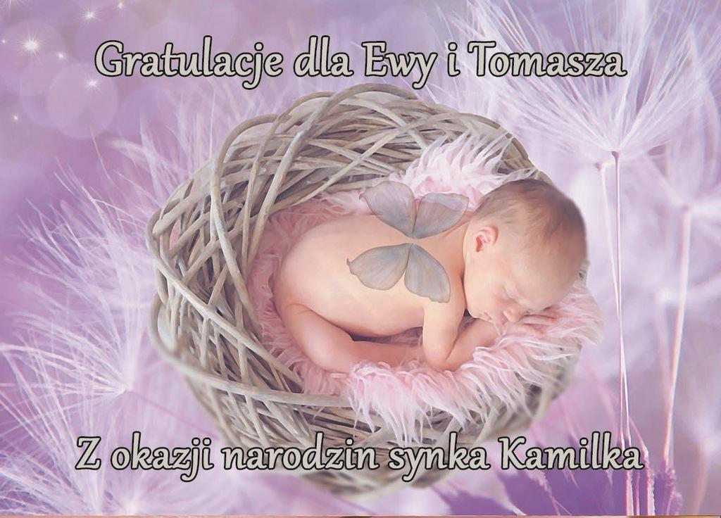 Kartka Z Okazji Narodzin Dziecka Gratulacje 22 A 6781866343 Oficjalne Archiwum Allegro