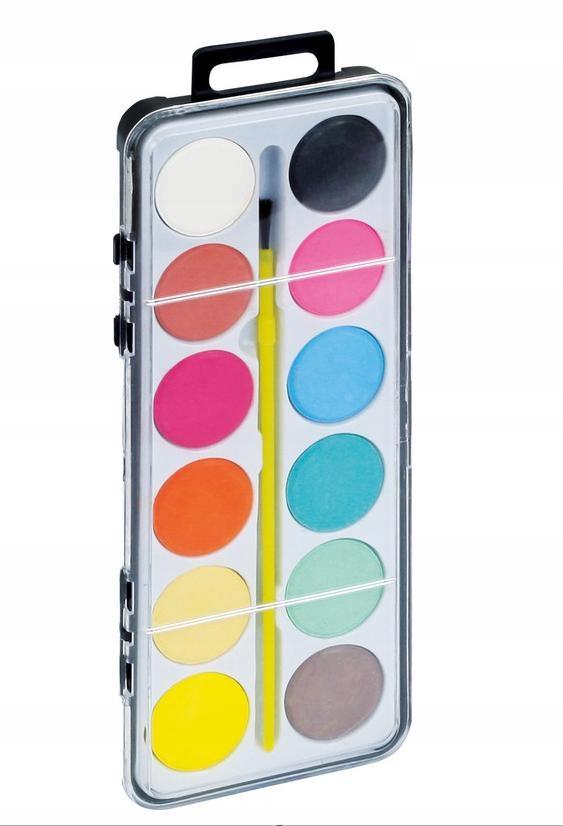 Farby wodne 12 szt Farbki akwarelowe dla dzieci