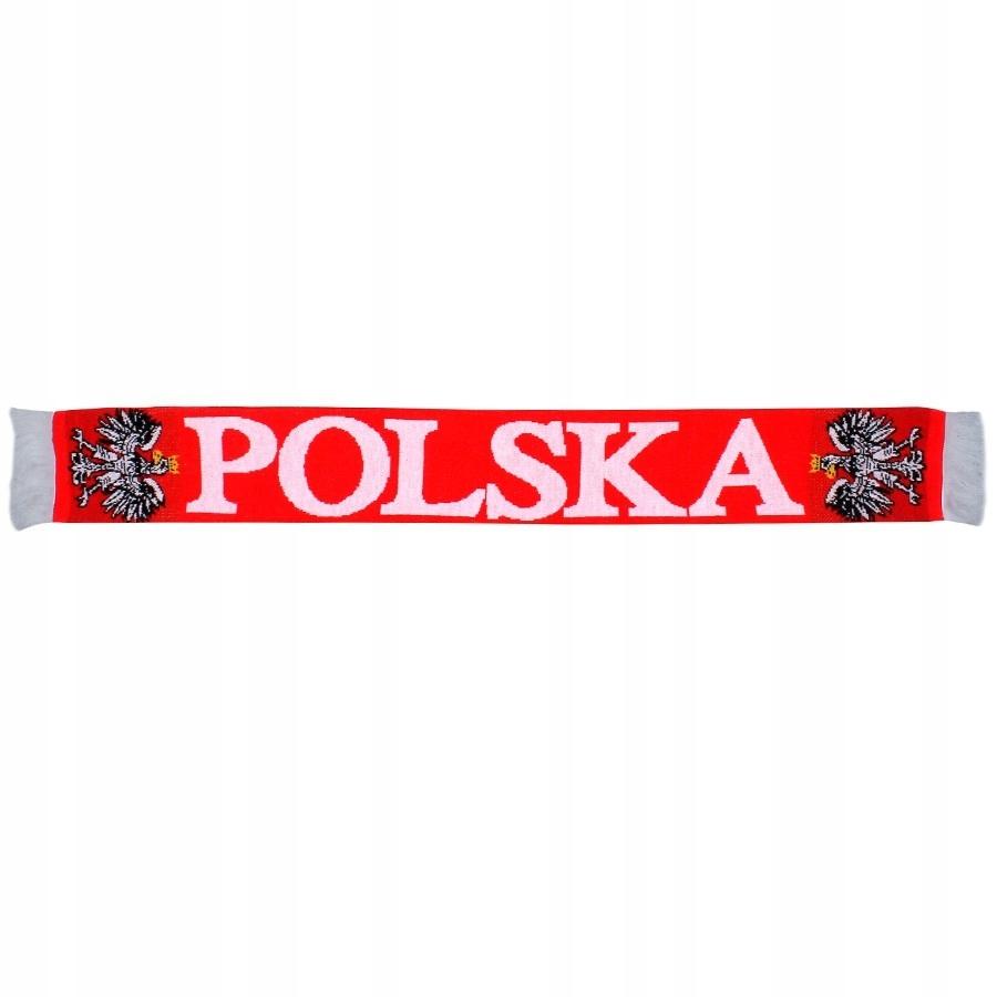 Szal Polska one size czerwony /Pozostałe