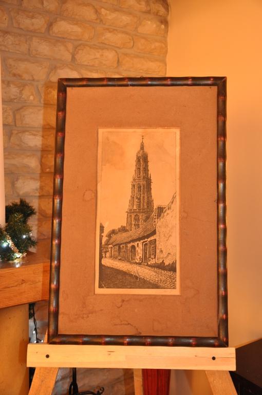 Stara grafika Wielki kościół w Bredzie