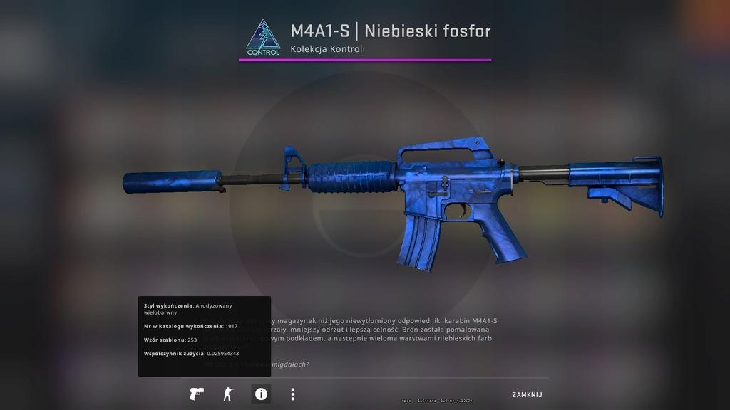 M4A1-S Niebieski Fosfor Fabrycznie Nowy